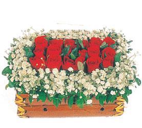 Ankara Anadolu çiçek yolla  11 adet kirmizi gül sepeti