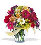 Ankara Anadolu çiçek , çiçekçi , çiçekçilik  cam yada mika vazo içerisinde karisik kir çiçekleri