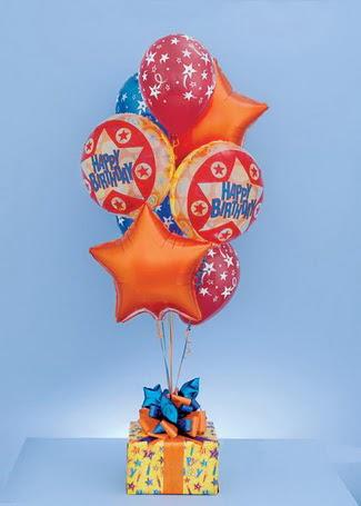 Ankara Anadolu çiçek gönderme sitemiz güvenlidir  19 adet uçan balon ve küçük kutuda çikolata