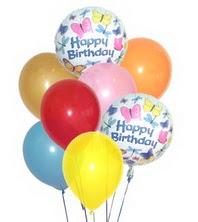 Ankara Anadolu hediye çiçek yolla  17 adet karisik renkte uçan balonlar