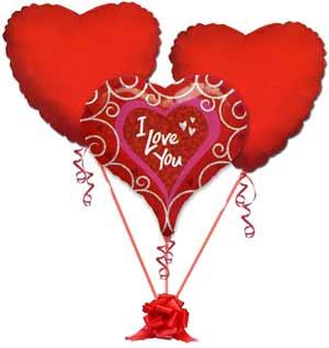 Ankara Anadolu online çiçek gönderme sipariş  3 adet büyük boy kalp uçan balon