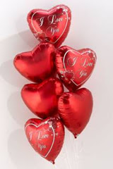 Ankara Anadolu Anadolu İnternetten çiçek siparişi  6 adet kirmizi folyo kalp uçan balon buketi