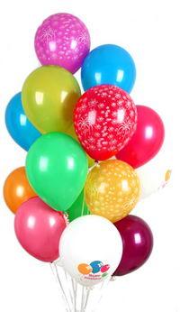Ankara Anadolu hediye çiçek yolla  30 adet uçan balon buketi demeti renkli