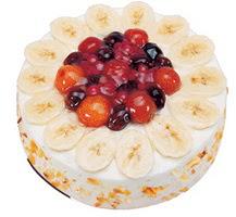 Meyvali 4 ile 6 kisilik yas pasta leziz  Ankara Anadolu ucuz çiçek gönder