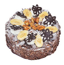 Muzlu çikolatali yas pasta 4 ile 6 kisilik   Ankara Anadolu uluslararası çiçek gönderme