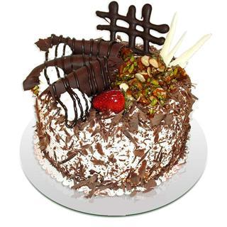 4 ile 6 kisilik çikolatali yas pasta  Ankara Anadolu kaliteli taze ve ucuz çiçekler