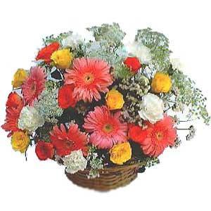 Sepet içerisinde karisik kir çiçekleri  Ankara Anadolu çiçek siparişi sitesi