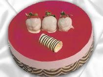 pasta siparisi 4 ile 6 kisilik yas pasta çilekli yaspasta  Ankara Anadolu çiçek servisi , çiçekçi adresleri