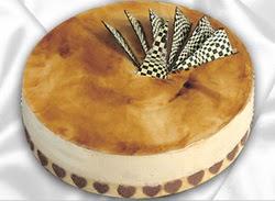 taze pasta 4 ile 6 kisilik yas pasta karamelli yaspasta  Ankara Anadolu çiçekçiler