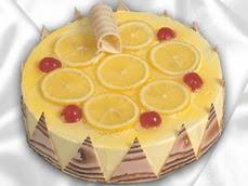 taze pastaci 4 ile 6 kisilik yas pasta limonlu yaspasta  Ankara Anadolu online çiçek gönderme sipariş
