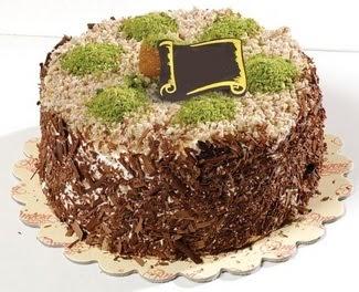 pasta gönderme 4 ile 6 kisilik çikolatali yas pasta  Ankara Anadolu çiçek satışı