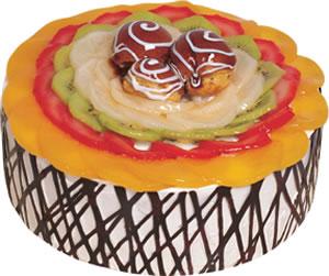 pasta siparisi 4 ile 6 kisilik meyvali yas pasta  Ankara Anadolu çiçek satışı