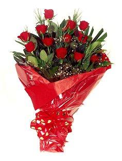 12 adet kirmizi gül buketi  Ankara Anadolu çiçekçiler