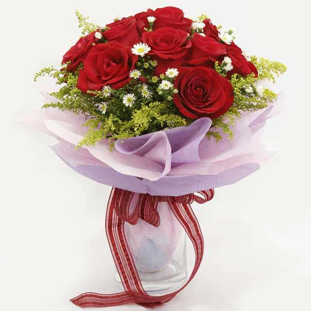 Çiçek gönderme estetikliginiz 11 gül buket  Ankara Anadolu çiçekçi mağazası