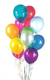 15 adet uçan balon demeti