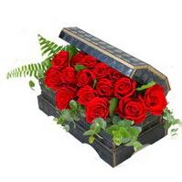 Sandik içerisinde 21 adet kirmizi gül  Ankara Anadolu çiçek siparişi sitesi