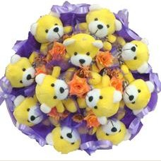 11 adet pelus ayicik buketi  Ankara Anadolu çiçek mağazası , çiçekçi adresleri