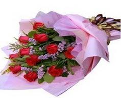11 adet kirmizi güllerden görsel buket  Ankara Anadolu çiçek gönderme sitemiz güvenlidir