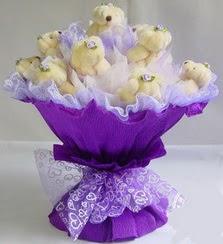 15 adet ayiciktan ayi buketi  Ankara Anadolu güvenli kaliteli hızlı çiçek