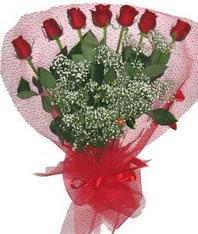 7 adet kipkirmizi gülden görsel buket  Ankara Anadolu çiçek mağazası , çiçekçi adresleri