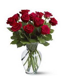 Ankara Anadolu çiçek gönderme sitemiz güvenlidir  cam yada mika vazoda 10 kirmizi gül