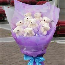 Ankara Anadolu uluslararası çiçek gönderme  11 adet küçük ayiciktan görsel ayi buketi