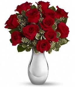 Ankara Anadolu çiçek siparişi vermek   vazo içerisinde 11 adet kırmızı gül tanzimi