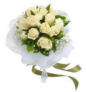 Ankara Anadolu online çiçekçi , çiçek siparişi  11 adet benbeyaz güllerden buket