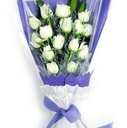 Ankara Anadolu çiçekçi mağazası  11 adet beyaz gül buket modeli