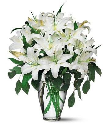 Ankara Anadolu internetten çiçek satışı  4 dal kazablanka ile görsel vazo tanzimi