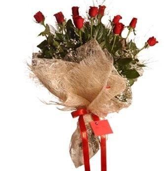 Ankara Anadolu çiçek servisi , çiçekçi adresleri  10 adet kırmızı gülden görsel buket