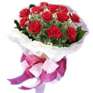 Ankara Anadolu çiçek satışı  11 adet kırmızı güllerden buket modeli