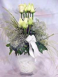 Ankara Anadolu online çiçek gönderme sipariş  9 adet vazoda beyaz gül - sevdiklerinize çiçek seçimi