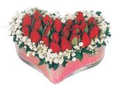 Ankara Anadolu çiçekçi telefonları  mika kalpte kirmizi güller 9