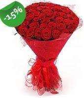 51 adet kırmızı gül buketi özel hissedenlere  Ankara Anadolu çiçek siparişi sitesi