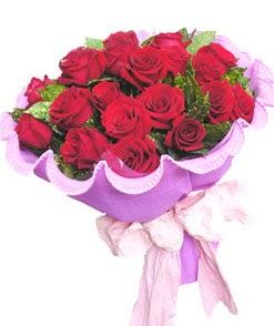 12 adet kırmızı gülden görsel buket  Ankara Anadolu çiçekçi mağazası