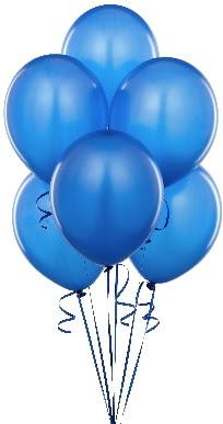 9 adet masmavi uçan balon buketi