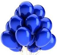 25 adet mavi uçan balon buketi
