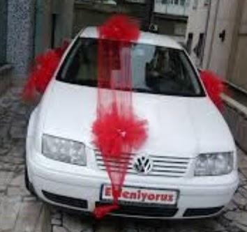Ankara Anadolu ucuz çiçek gönder  çiçeksiz gelin arabası süslemesi