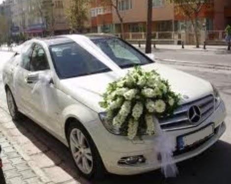 Gelin arabası süslemesi  Ankara Anadolu çiçek satışı