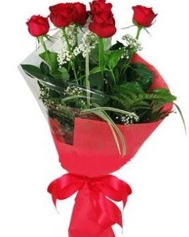 5 adet kırmızı gülden buket  Ankara Anadolu kaliteli taze ve ucuz çiçekler