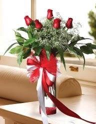 Camda 5 kırmızı gül tanzimi  Ankara Anadolu çiçekçi telefonları