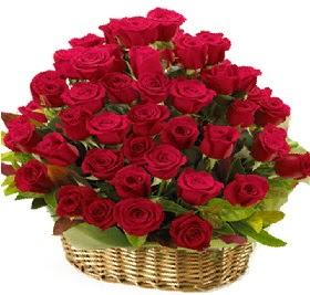 41 adet kırmızı gül sepet içerisinde  Ankara Anadolu çiçek online çiçek siparişi