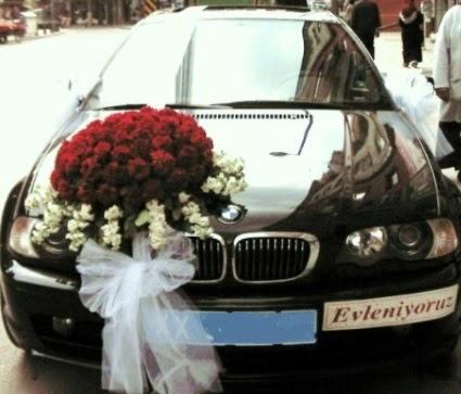 Görsel gelin arabası süslemesi  Ankara Anadolu çiçek mağazası , çiçekçi adresleri