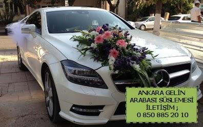 Ankara gelin araba süsü süslemesi  Ankara Anadolu çiçek mağazası , çiçekçi adresleri
