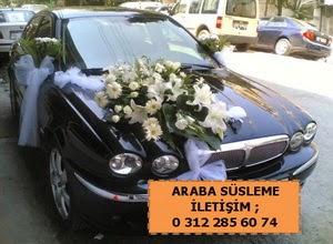 Gelin arabası süslemesi  Ankara Anadolu güvenli kaliteli hızlı çiçek