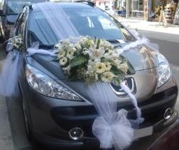 Araba süsü süslemesi  Ankara Anadolu çiçekçi telefonları