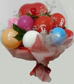 Benimle Evlenirmisin balon buketi  Ankara Anadolu uluslararası çiçek gönderme