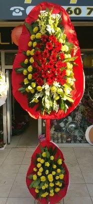 Çift katlı düğün açılış çiçek modeli  Ankara Anadolu çiçek servisi , çiçekçi adresleri