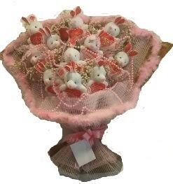 12 adet tavşan buketi  Ankara Anadolu çiçek mağazası , çiçekçi adresleri